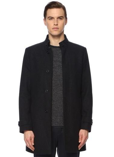 George Hogg George Hogg Dik Yaka Uzun Kollu Slim Fit Erkek Palto Lacivert
